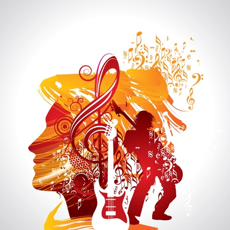 glam rock: Abstract musical background for music event design Illustration