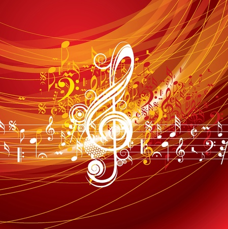 bonfires: Abstract musical background for music event design Illustration