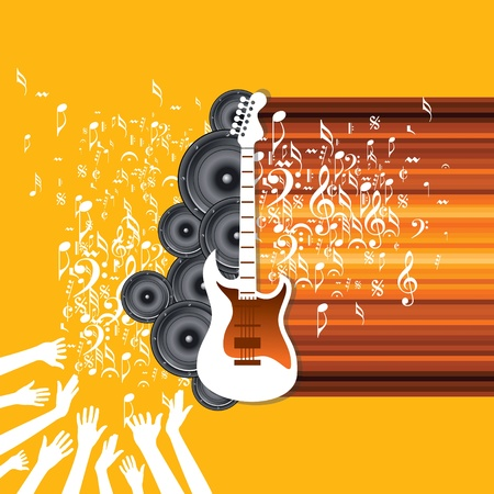 Abstract musical background for music event design Stock Vector - 19466687
