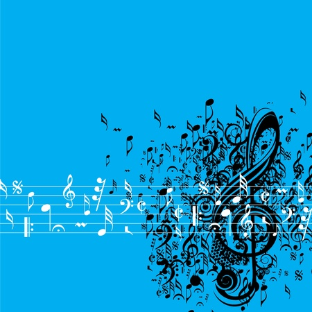 Abstract musical background for music event design Vector