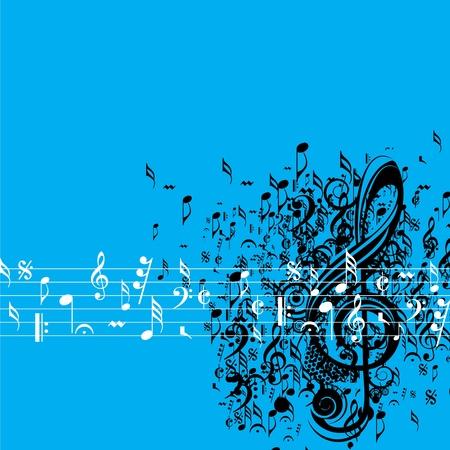 pentagrama musical: Fondo musical abstracto para diseño del evento musical Vectores