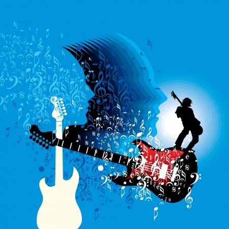 Zusammenfassung musikalischen Hintergrund für Musik-Event-Design Standard-Bild - 19466773
