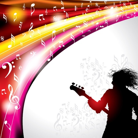 pop singer: Abstract musical background with music event design