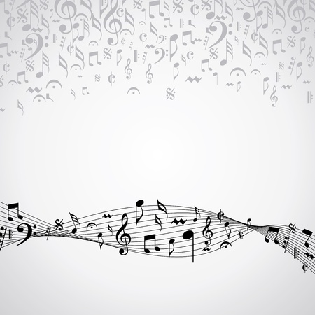 fonts music: Abstract musical background with music event design