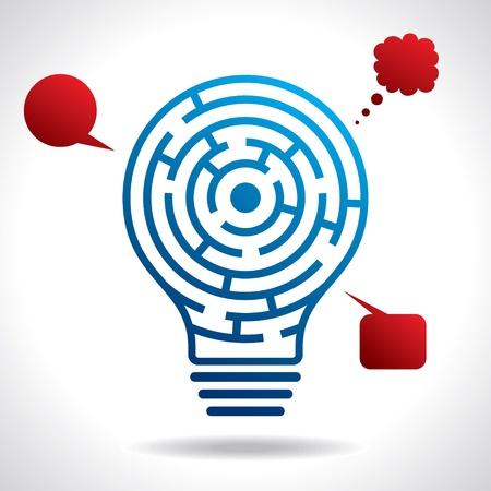 brain game: mental game idea concept