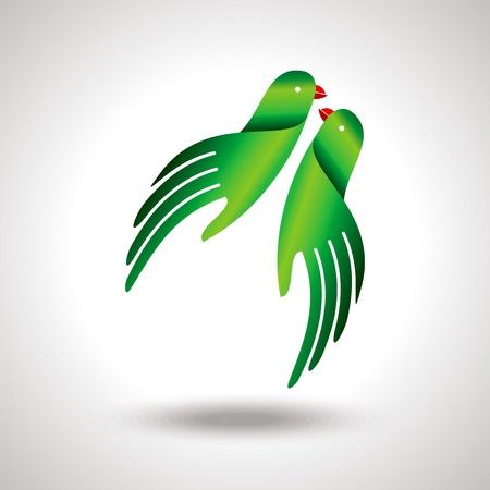 antiquity: fly of bird to hand  creative idea Illustration