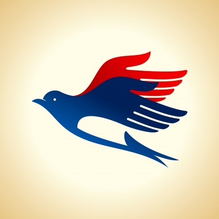 fly of bird to hand  creative idea Vector