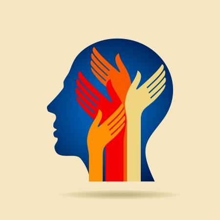 menschlichen Kopf denken eine neue Idee