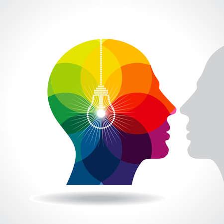 kopf: menschlichen Kopf denken eine neue Idee