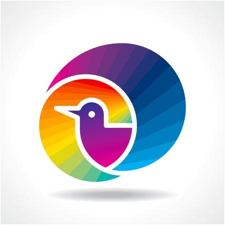 bird icon vector Vector
