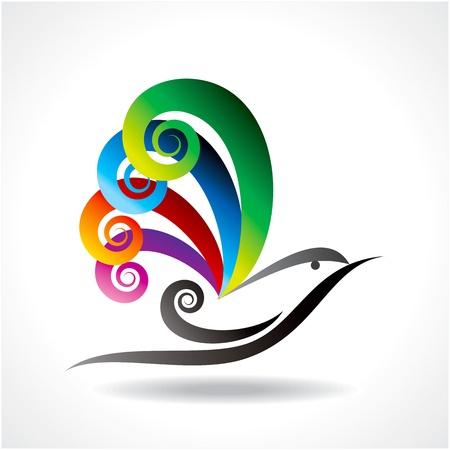 plumas de pavo real: icono de vector de aves