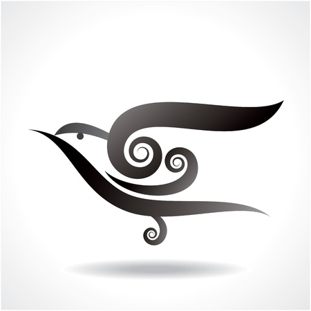 swallow: bird icon vector Illustration