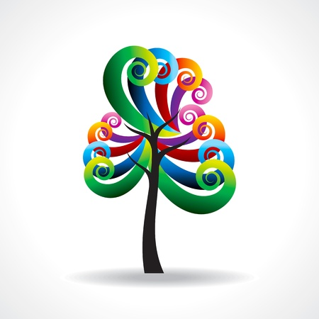 colorful tree Stock Vector - 20881473