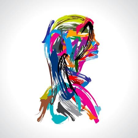 artist's model: artistic portrait of lady