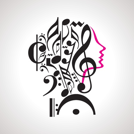 Vector music head Vector