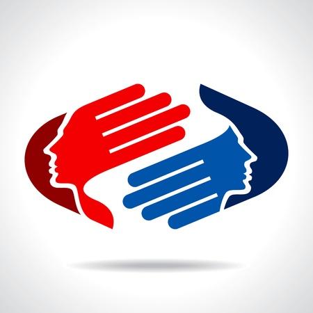 amistad: icono de concepto de negocio Vectores