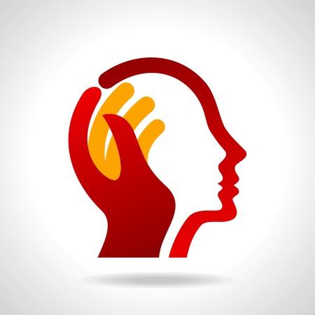 새로운 아이디어를 생각하는 인간의 머리 일러스트