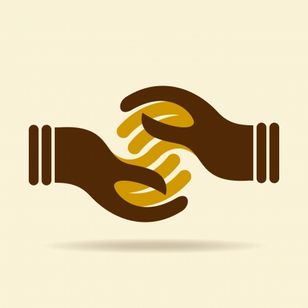 help hand: vector deal web icon design element