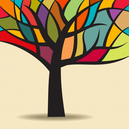 Herbst abstrakten Baum Illustration