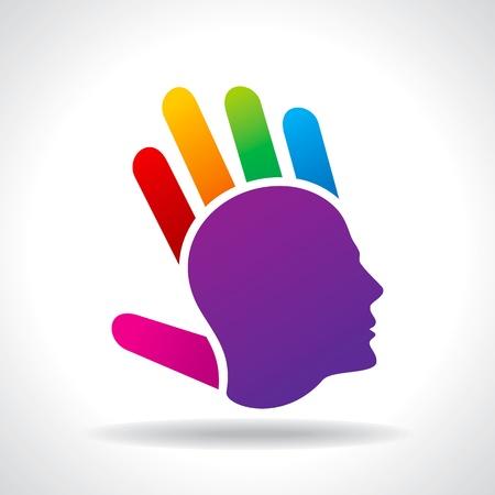 human head thinking a new idea Vector