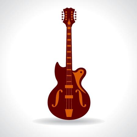 line drawing of guitar Vector