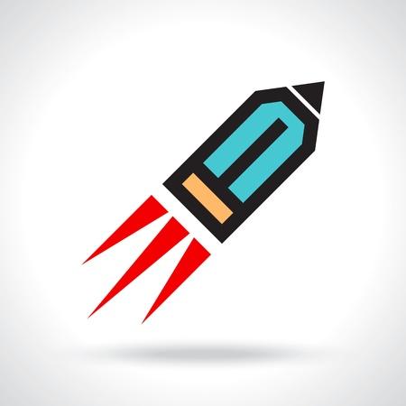 funny pencil icon Vector
