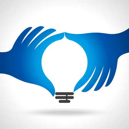 solutions icon: reach idea with human hand