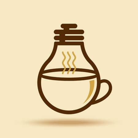 creative solutions: coffee cup idea for business Illustration