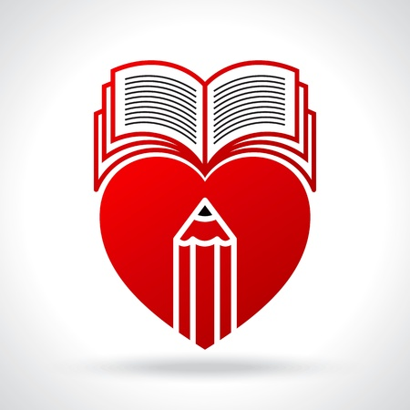 love reading illustration Stock Vector - 20881704