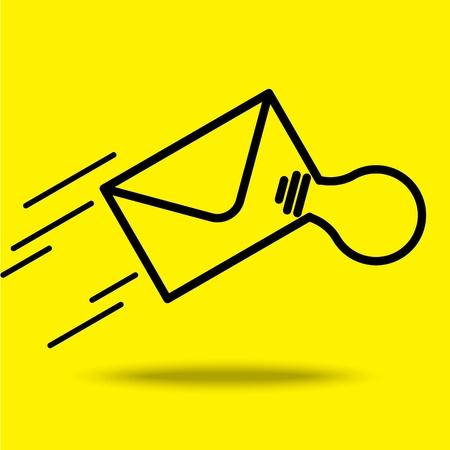 mailer: send mail icon Illustration