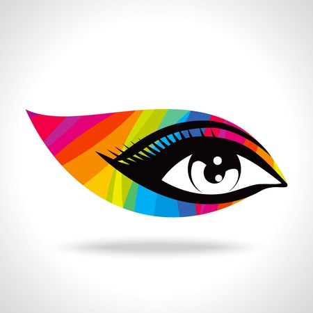 colourful creative eye Vector