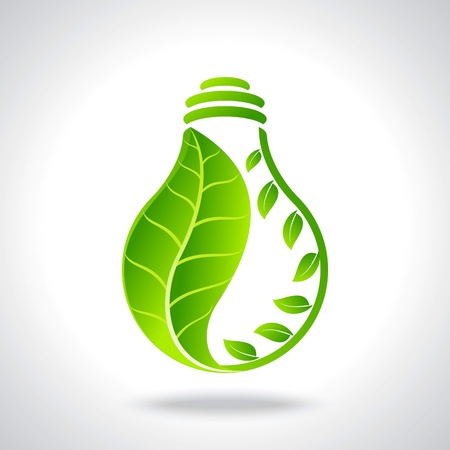 green bulb: green eco energy concept
