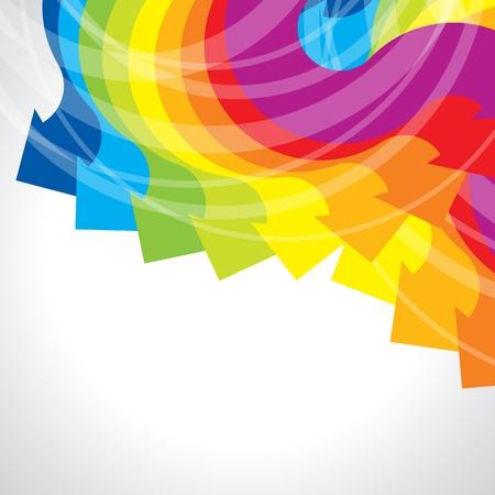 Цветные стрелки вектор