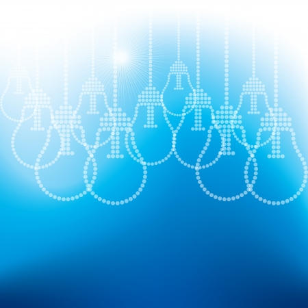 drawings image: many bulb on blue background