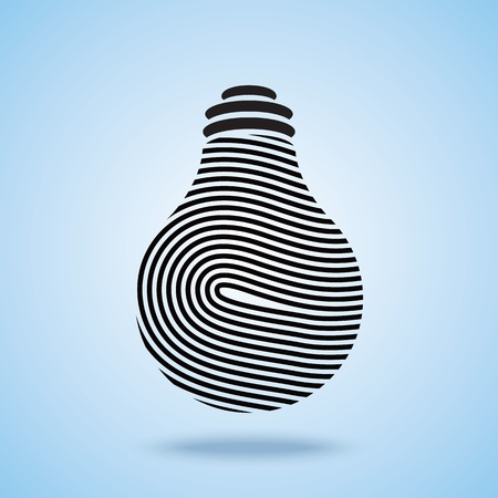 inventions: Creative Light bulb vector icon Illustration