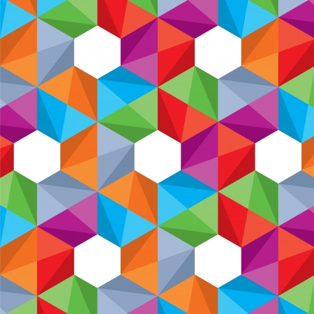 textiles: Retro pattern of geometric shapes  Colorful mosaic-banner