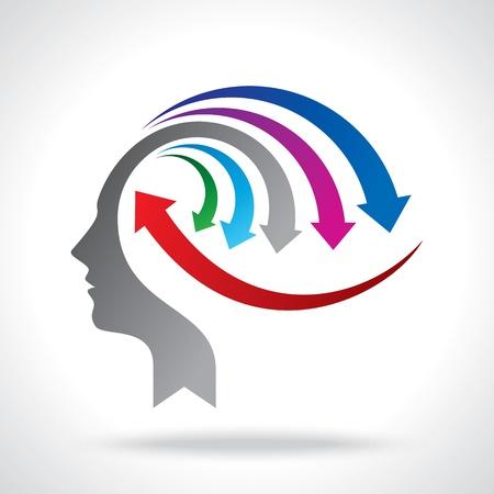 mision: vector de la mente de negocios con las flechas Vectores