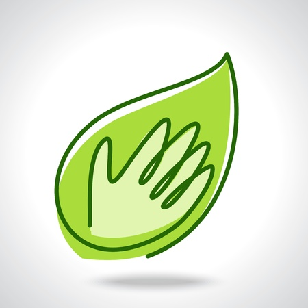 Eco friendly tree in hands illustration Vector