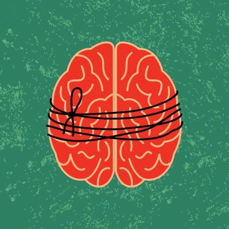 restraining: brain lock, mental idea