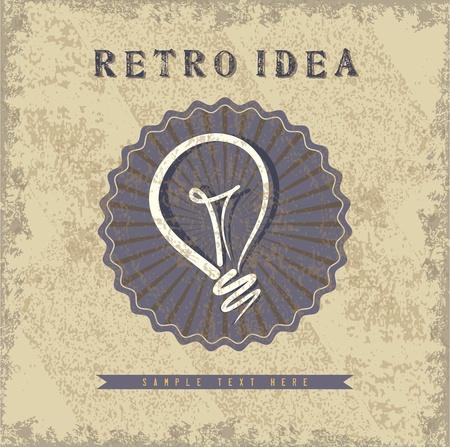 retro idea vector Vector