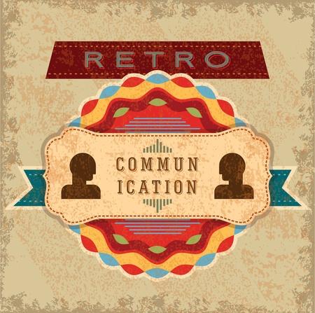 vintage communication idea Vector