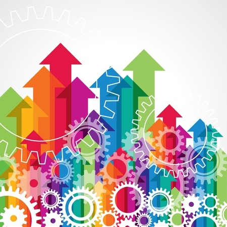 economies: fl�che et vitesse, concept d'entreprise Illustration