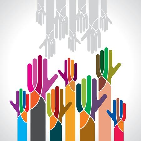 Vektor der Teamarbeit