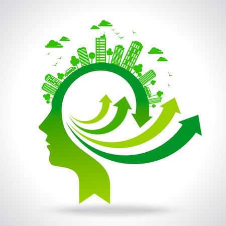 go for green idea Vector