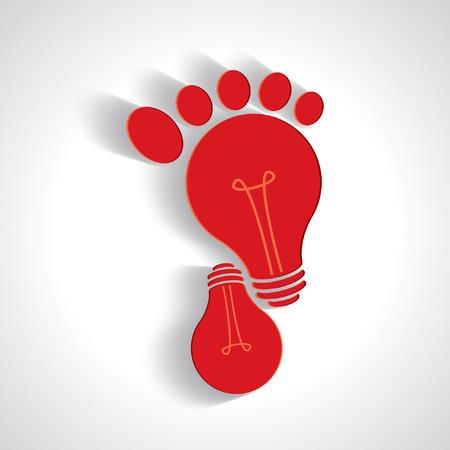 big toe: creative idea of walking icon