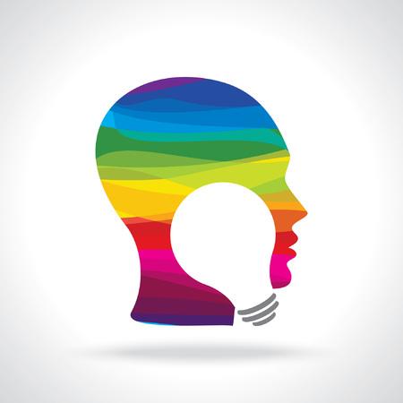 unsolvable: human head thinking a new idea