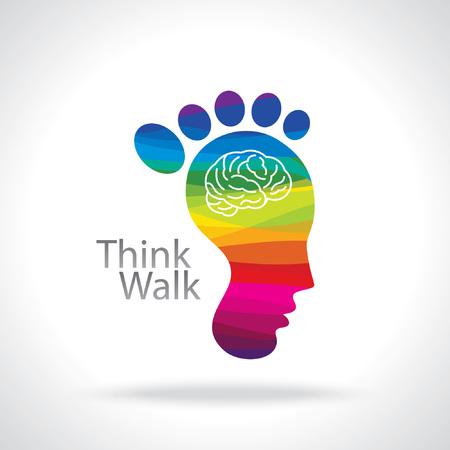 unsolvable: think walk concept Illustration