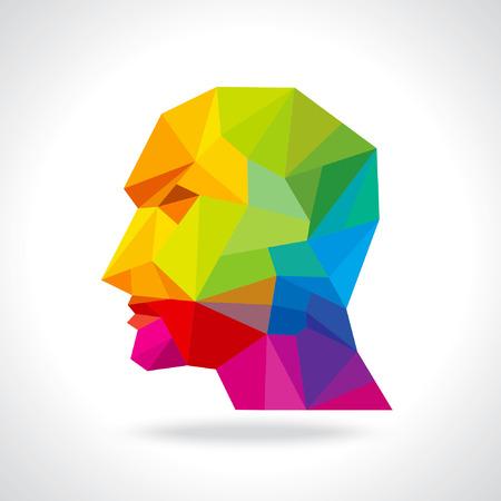 menselijk hoofd denken nieuw idee
