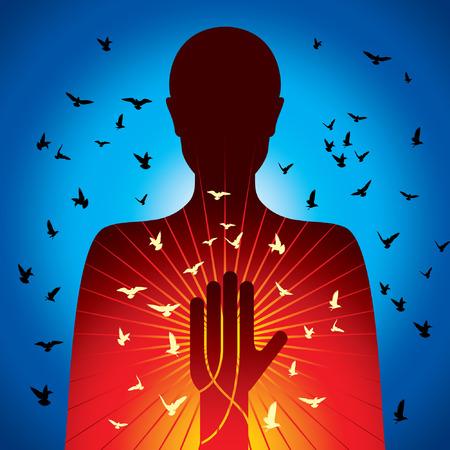 astral body: espiritual vector dama Vectores