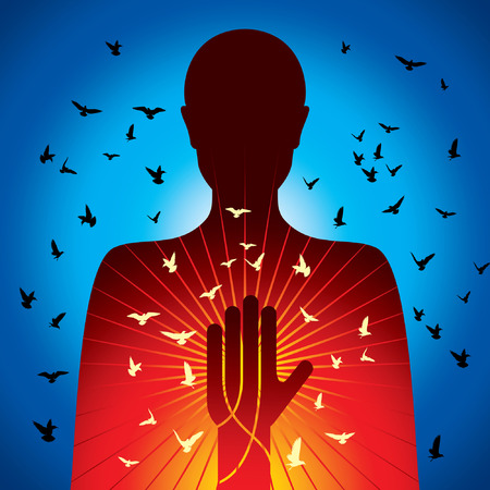 daydream: spiritual lady vector